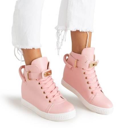 Różowe sneakersy ze złotymi ozdobami Harli - Obuwie