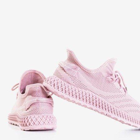 Różowe sportowe buty damskie Amberi - Obuwie