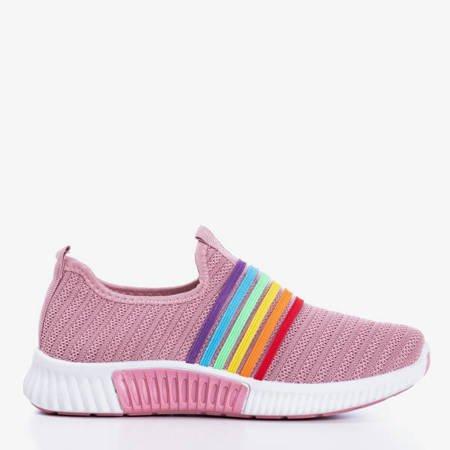 Różowe sportowe buty damskie typu slip - on Rainbi - Obuwie