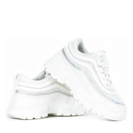 Sportowe białe buty z holograficznym wykończeniem Tere - Obuwie