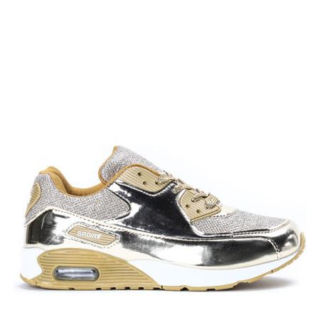 Sportowe buty w kolorze złotym Silverea - Obuwie