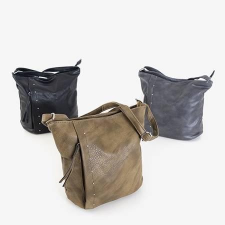 Szara torebka damska z dżetami - Torebki