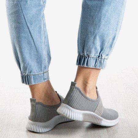 Szare buty sportowe damskie Agafia - Obuwie