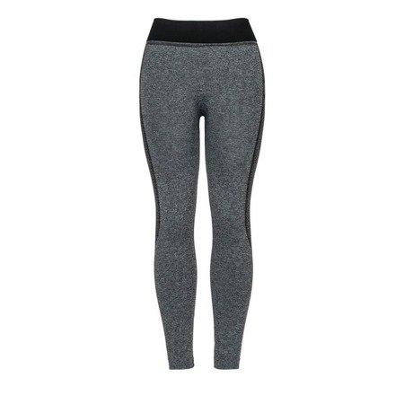 Szare getry z czarnymi wstawkami - Spodnie