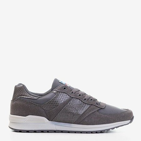 Szare męskie sportowe buty Gustavo - Obuwie