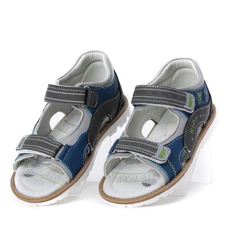 Szare sandały chłopięce z zapiętkiem Eneki - Obuwie