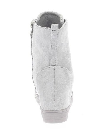 Szare sneakersy na krytym koturnie Savanetha - Obuwie