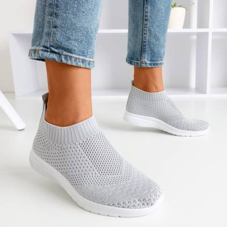 Szare sportowe buty slip - on Brize - Obuwie