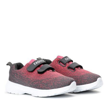 Szaro-różowe dziecięce buty Etivia - Obuwie