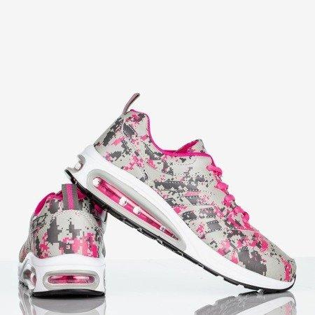 Szaro-różowe sportowe buty damskie Thalassa - Obuwie