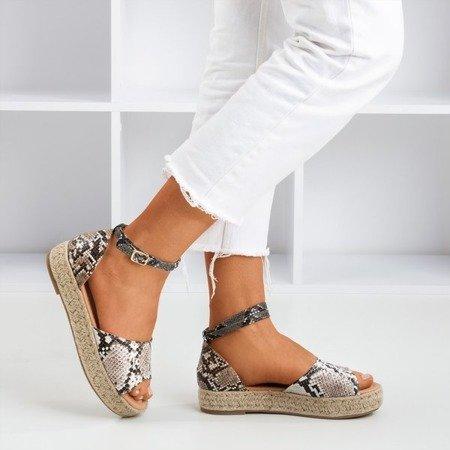 Wężowe sandały damskie a'la espadryle Truly Yours - Obuwie