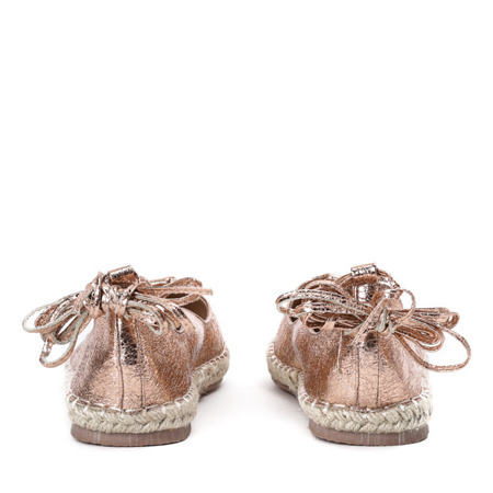 Wiązane espadryle w kolorze różowego złota Vinea - Obuwie