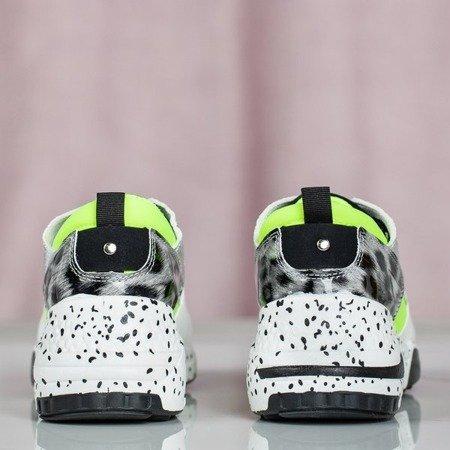 Wielokolorowe buty sportowe z panterką Dianne - Obuwie