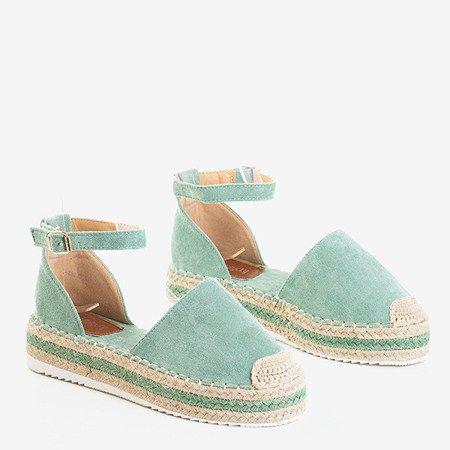 Zielone sandały damskie na platformie Mora - Obuwie