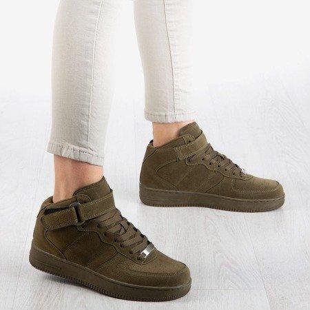 Zielone wysokie buty sportowe na platformie Tiny Dancer - Obuwie