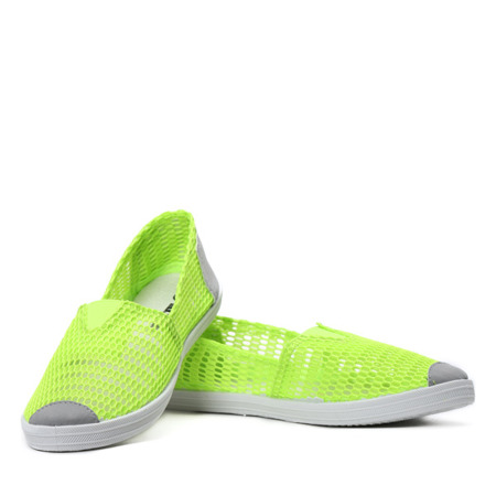 Zielono- neonowe slip on Donna- Obuwie