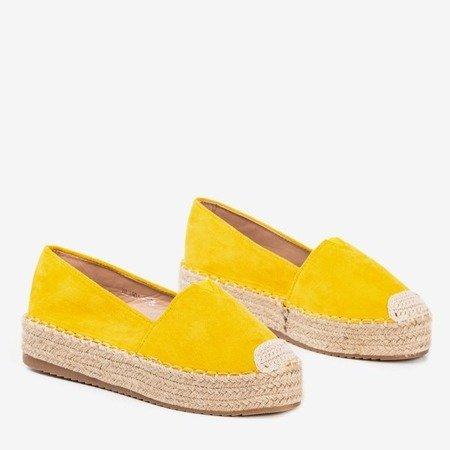 Żółte espadryle na platformie Roseanne - Obuwie