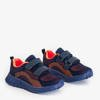 Granatowe dziecięce sportowe buty z pomarańczowymi wstawkami Nerida - Obuwie
