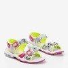 Srebrne sandały dziecięce Jamie - Obuwie
